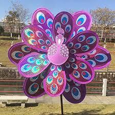 Generic <b>1 pcs Multicolor</b> Peacock Multicolor Wind Spinner Whirligig ...