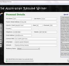 australian resume writer  resume wizard   the australian résumé writer    personal details screen