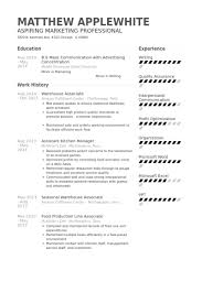 warehouse associate resume samples   visualcv resume samples databasewarehouse associate resume samples