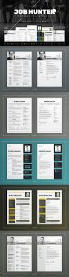 job hunter resume cv bundle resume templates on creative market
