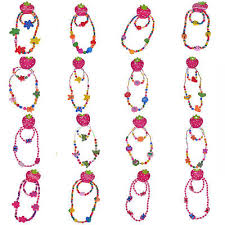 <b>1 Set Cute</b> Kids Jewelry Multicolor Wood Beads Charm Necklace ...