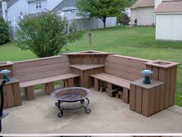 barrel patio furniture bench chairs