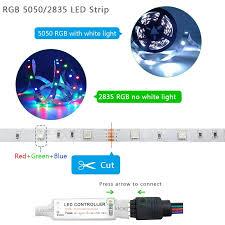 5M 10M <b>20M 5050</b> 3528 <b>RGB LED</b> Strip Light Bluetooth WiFi ...