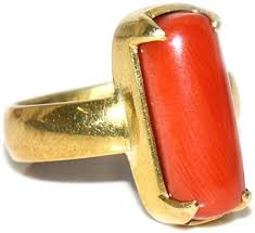 Jewelryonclick Real 5 Carat Red Coral <b>Silver</b> Ring for <b>Men</b> Prong ...