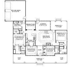Fulbright Colonial Home Plan D    House Plans and MoreSouthwestern House Plan First Floor   D    House Plans and More