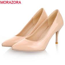 MORAZORA 2018 <b>New Fashion</b> high heels <b>women pumps</b> thin heel ...