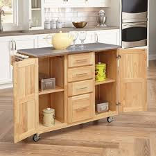 home styles stainless steel top kitchen cart with breakfast bar breakfast bars furniture