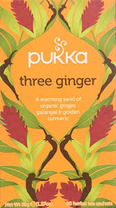 Pukka Three <b>Ginger</b>, <b>Organic Herbal Tea</b> with Galangal & Turmeric ...