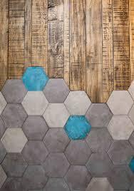 Hexagon Tile Floor Patterns Hexagon Tiles Meet Wood Tiles In This Very Cool Flooring Design