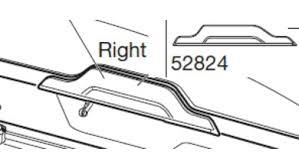 Запчасть Thule Motion XT. Правая ручка <b>накладка крышки бокса</b> ...