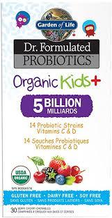 Garden of Life <b>Dr</b>. <b>Formulated Probiotics Organic</b> Kids + Chewables ...