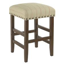 Benzara <b>Beige</b> and <b>Brown</b> Counter Upholstered <b>Bar</b> Stool in the <b>Bar</b> ...