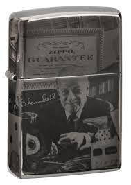 <b>Зажигалка ZIPPO George Blaisdell</b> с покрытием Black Ice®, латунь ...