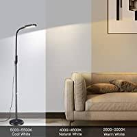 Miroco <b>LED</b> Floor Lamp with 5 Brightness Levels & <b>3 Color</b> ...