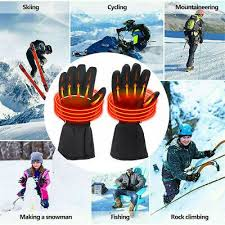 Waterproof Electric Heated Gloves <b>Rechargeable Battery Warm</b> ...