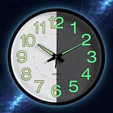 <b>12 Inch Moon Luminous</b> Wall Clocks Circular Quartz Clocks Home ...
