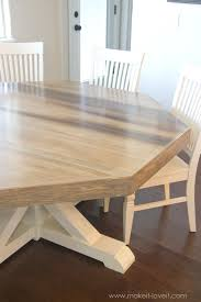 How To Make A Dining Room Table Diy Octagon Dining Room Tablewith A Farmhouse Base Make It