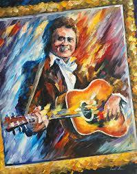 <b>JOHNNY</b> CASH — PALETTE KNIFE <b>Oil Painting</b> On <b>Canvas</b> By ...