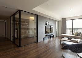astonishing modern home office with interior glass doors furnished enchanting wooden flooring of family room combined amazing attractive office design