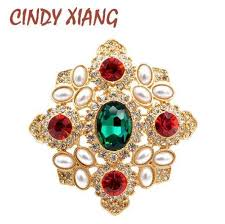 2018 <b>CINDY XIANG</b> New Arrival Crystal And Pearl Cross <b>Baroque</b> ...