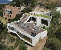 images about Steep Slope House Plans on Pinterest   House    Steep Hillside House Plans   house on a steep hill green