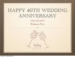 40th Wedding Anniversary Quotes. QuotesGram