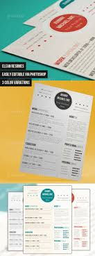 best images about photoshop resume templates clean resume template please note you need photoshop to edit this file all the texts are editable 3 layered psd files one for each color variation