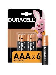 Щелочная <b>батарейка AAA</b>/LR03 6 шт DURACELL 6432459 в ...