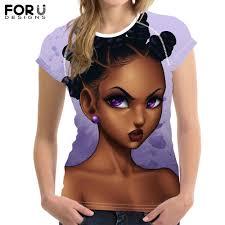 <b>FORUDESIGNS Black</b> Queen African Girls Art 3D Print T Shirts ...
