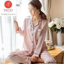 Ice <b>Silk</b> Pyjamas <b>Female</b> Autumn Long Sleeve <b>Sexy Silk</b> Thin Suit ...