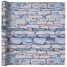 Tidyard Balcony Screen Oxford Fabric 75x400 cm <b>Stone Wall Print</b> ...