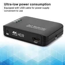 3x1 Ultra low power 4K HDMI 2.0 <b>Switcher</b> one key <b>HD</b> IR Remote ...