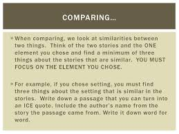 compare and contrast essay  you will be writing a compare and  when comparing we look at similarities between two things think of the two