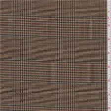 1 yd pc antique gold plaid wool suiting 24971 c1 brown linen fabric lighting