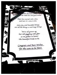 Bridal Shower Poems on Pinterest | Mickey Bridal Shower, Bridal ...