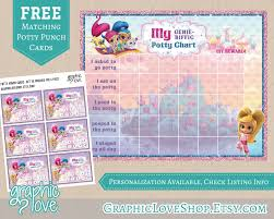 potty punch card printable shimmer and shine potty training chart punch cards nick junior toilet training digital jpg files instant