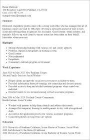 resume templates social worker social worker resume template