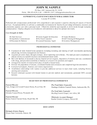 funeral director resume s executive resume sample job s executive resume sample job interview career guide