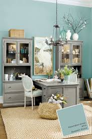 isnt this benjamin moores kensington blue so fresh and fun for a home office calming office colors