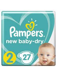 <b>Подгузники New Baby Dry</b> 4-8 кг, размер 2, 27 шт <b>Pampers</b> ...
