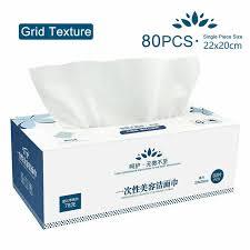 <b>100 pcs Disposable Face</b> Cloths Towel Cotton Wash Infection ...