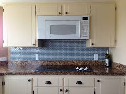Backsplash Kitchen Tile White Ceramic Subway Tile Kitchen Backsplash With Glass Accent