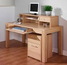 oak corner computer desk natural finish awesome oak corner laptop desk
