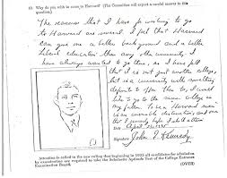 Here     s The Five Sentence Personal Essay That Helped JFK Get Into