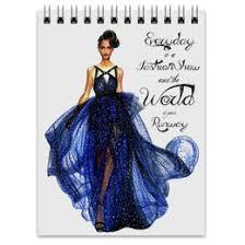 "<b>Блокноты</b> c красивыми принтами ""платье"" - <b>Printio</b>"