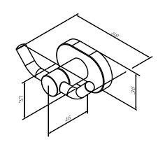 A7435600 Sense L, Двойной <b>крючок для полотенец</b>, хром