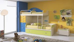 bedroom kid: space saving bunk bed design ideas for kids bedroom vizmini sets beds funky with yellow