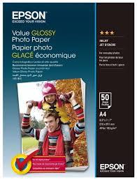 <b>Бумага</b> A4 50 шт. <b>Epson Value Glossy</b> Photo <b>Paper</b> — купить по ...