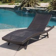 mfg corp white resin stackable patio chaise