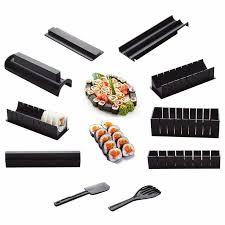 US$16.63 DIY 10 In 1 <b>Sushi Maker</b> Kit <b>10pcs</b> Rice Roll Mold Kitchen ...